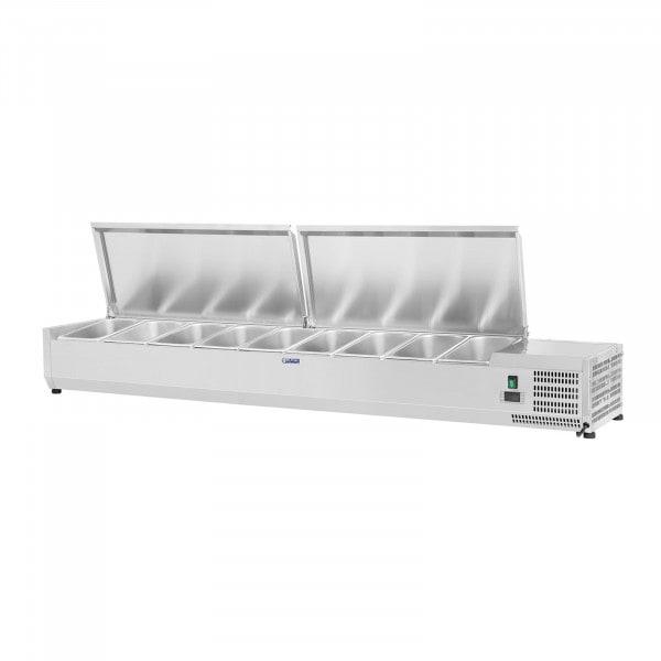 Kühlaufsatzvitrine - 200 x 39 cm - 9 GN 1/3 Behälter