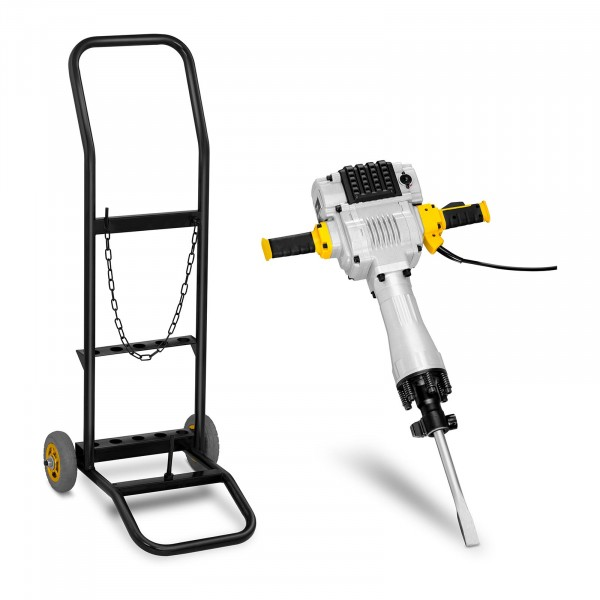 Abbruchhammer mit Trolley - 2.100 W - 1.600 Schläge/min - 85 Joule - SDS HEX