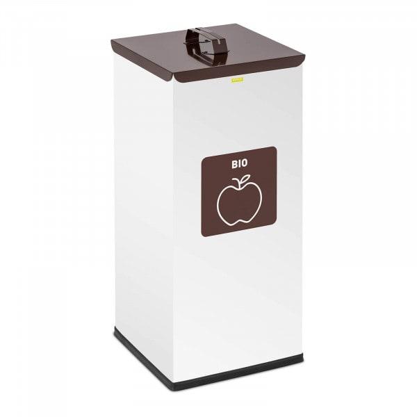 Abfalleimer - 60 L - weiß - Bio Label