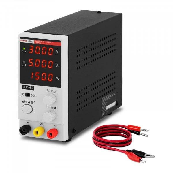 Labornetzgerät - 0 - 30 V - 0 - 5 A DC - 150 W - 4-stellige LED-Anzeige