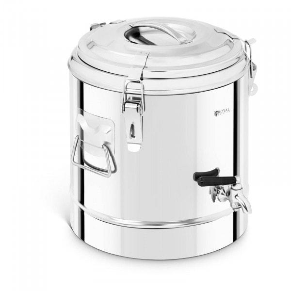 Thermobehälter Edelstahl - 12 L - mit Ablasshahn