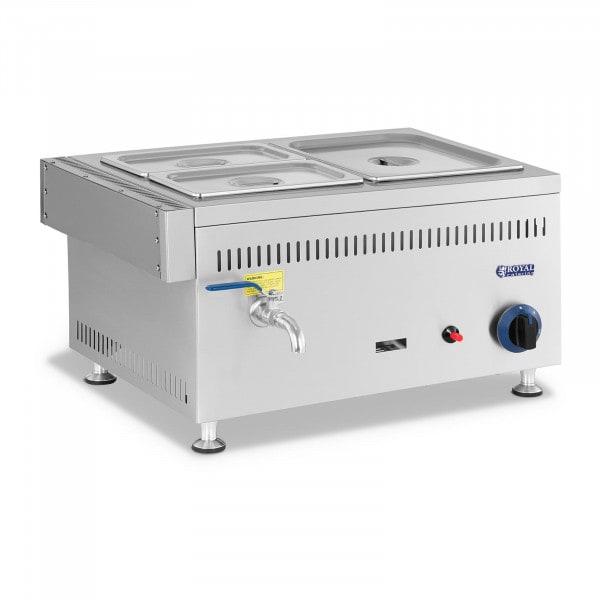 Gas Bain Marie - 3300 W - GN 1 x 1/2 + 2 x 1/4 - 0,02 bar - G20
