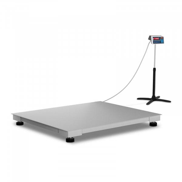 Bodenwaage - geeicht - 600 kg / 200 g - 100 x 120 cm - LED