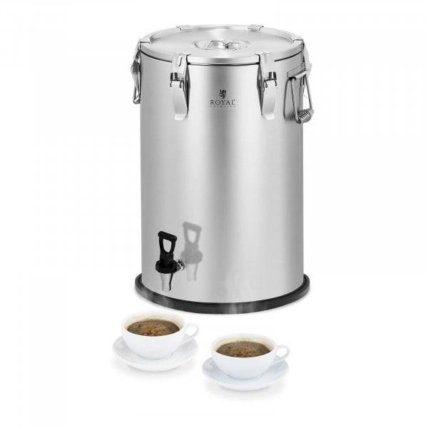 Thermobehälter - Edelstahl - 35 L - mit Ablasshahn