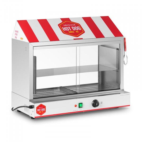 Hot Dog Steamer - 300 Würstchen - 100 Brötchen - 2.400 W
