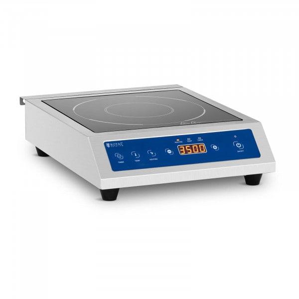 Induktionsplatte - 20 cm - 60 bis 240 °C - Timer