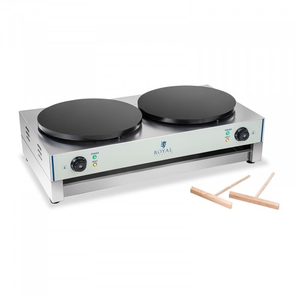 Crepes-Maker - 2 Heizplatten - 40 cm - 2 x 3.000 Watt