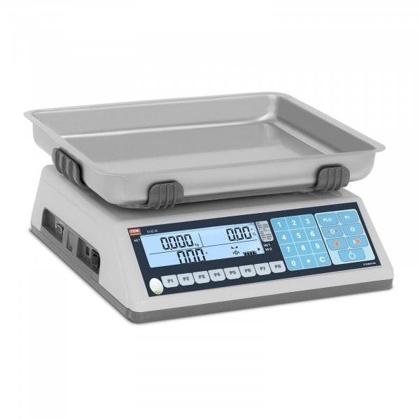 Preisrechenwaage - geeicht - 30 kg / 10 g - Dual-LCD