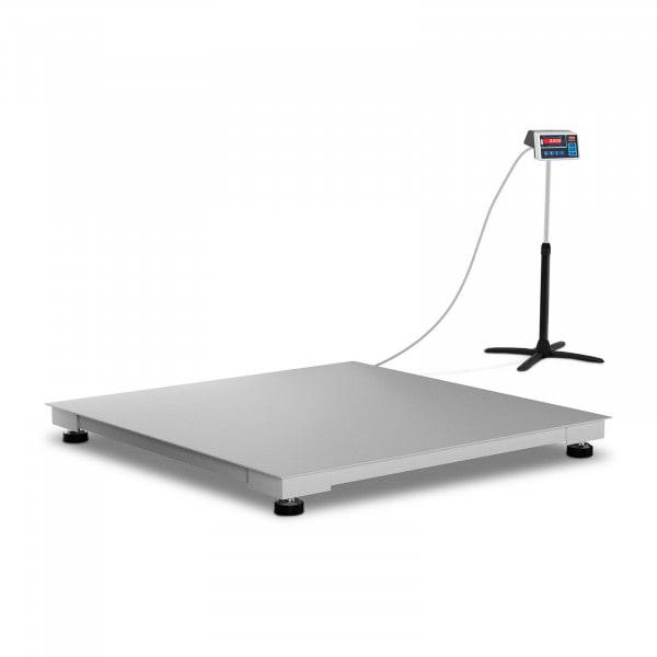 Bodenwaage - geeicht - 1.500 kg / 500 g - 120 x 120 cm - LED