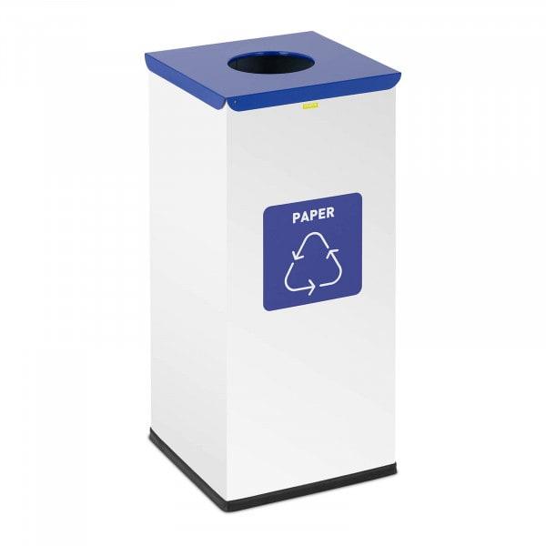 Abfalleimer - 60 L - weiß - Papier Label