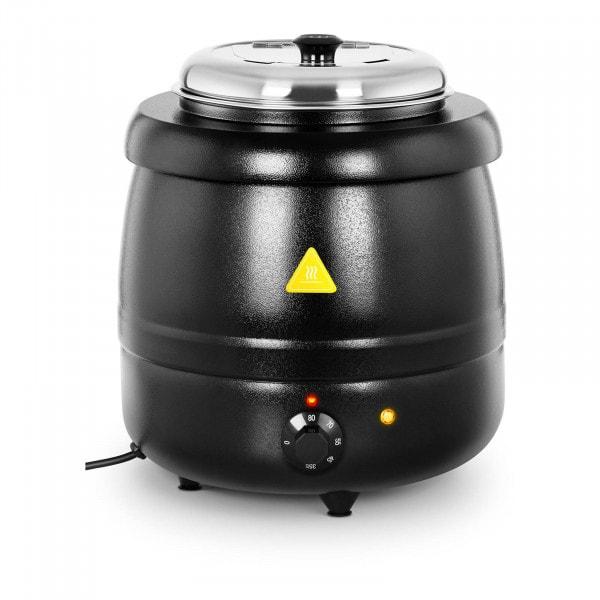 Suppentopf elektrisch - 10 L - Stahl - schwarz beschichtet