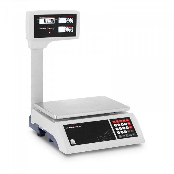 Kontrollwaage - 30 kg / 5 g - LCD-Hochanzeige