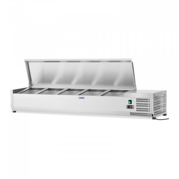 Kühlaufsatzvitrine - 160 x 33 cm - 8 GN 1/4 Behälter