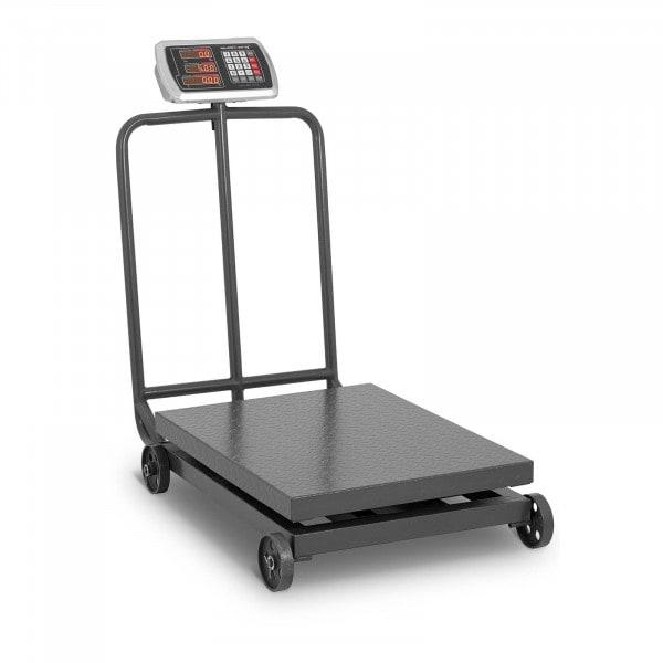 Plattformwaage - 600 kg / 100 g - rollbar - LED-Display