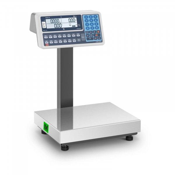 Preisrechenwaage - geeicht - 60 kg - Dual-LCD