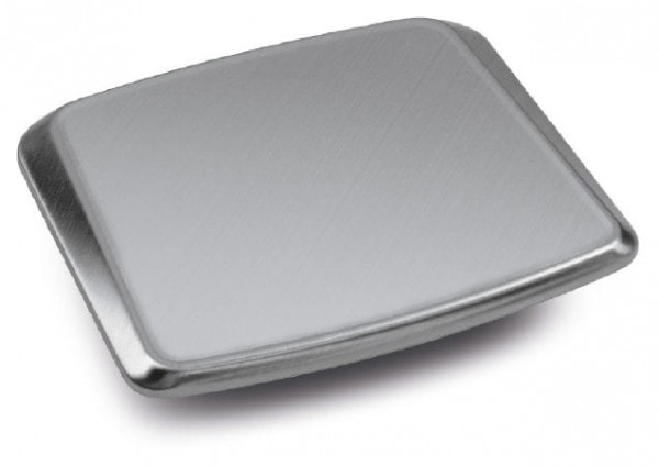 KERN Edelstahl-Wägeplatte, B×T 180×195 mm