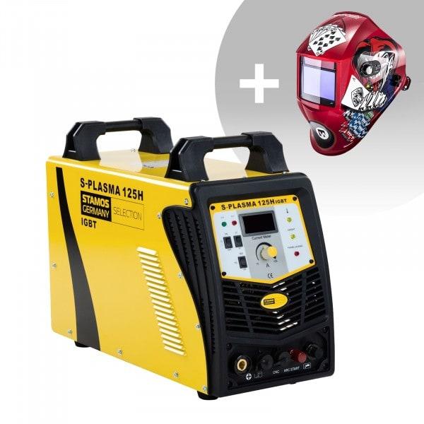 Schweißset CNC Plasmaschneider - 125 A - 400 V - Pilotzündung + Schweißhelm – Pokerface