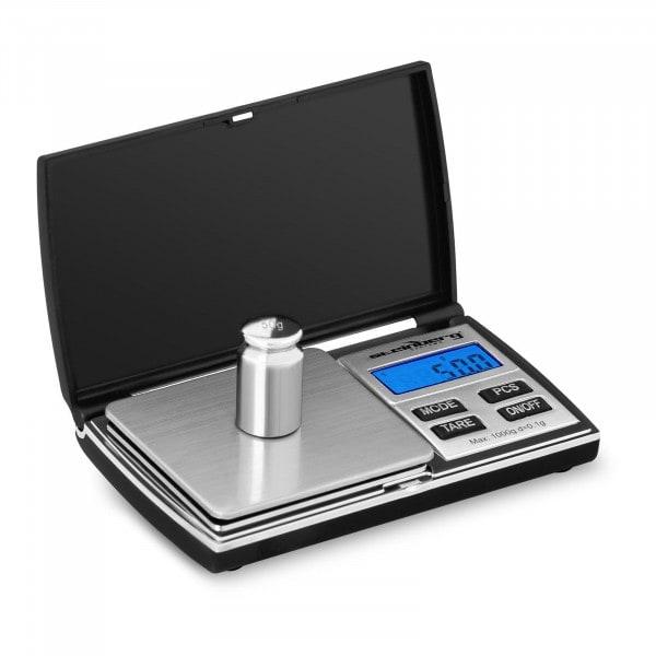 Digitale Taschenwaage - 1.000 g - 0,05 g / 200 g - 69 x 64 mm