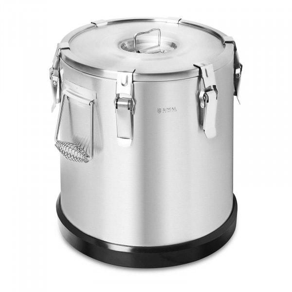 Thermobehälter Edelstahl - 22 L - royal_catering - Gummiboden