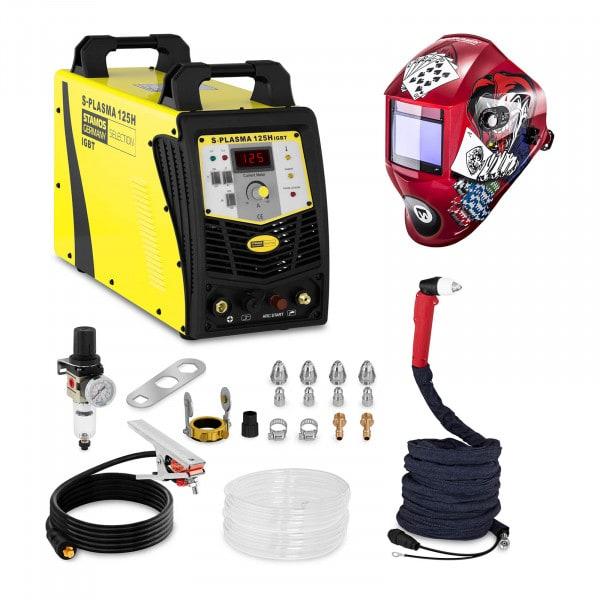 Schweißset Plasmaschneider - 125 A - 400 V - Pilotzündung + Schweißhelm – Pokerface