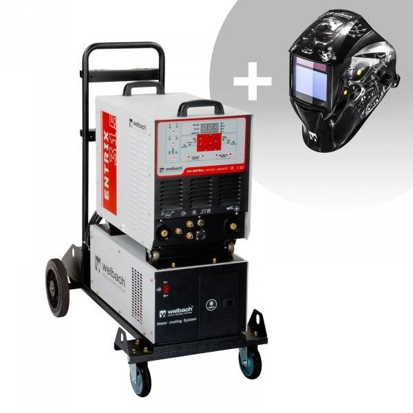 Schweißset ALU Schweißgerät - 315 A - 400 V - Puls - Wasserkühler + Schweißhelm – Metalator