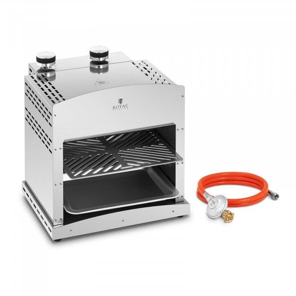 Set Oberhitzegrill mit Druckminderer - 7.800 W - 800 °C
