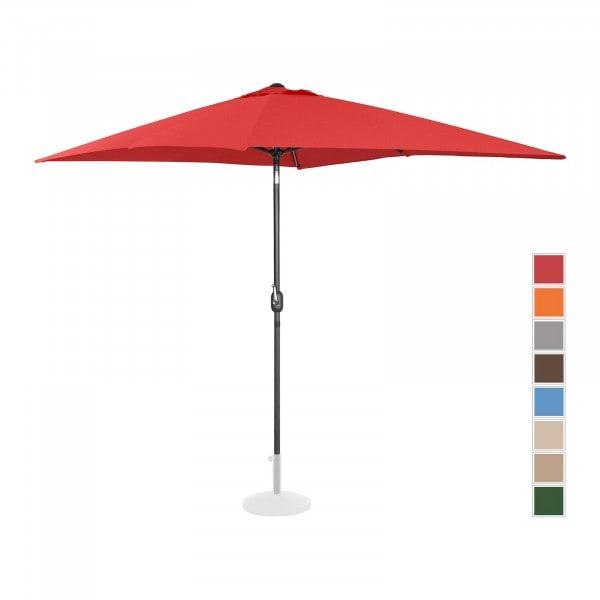 B-Ware Sonnenschirm groß - rot - rechteckig - 200 x 300 cm - neigbar