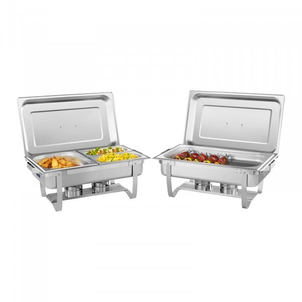 Chafing Dish Set 2-teilig - 53 cm - inkl. GN Behälter