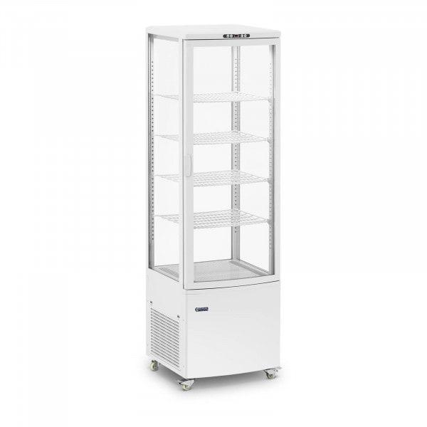 Kühlvitrine - 238 L - 5 Ebenen - weiß - 4 Räder