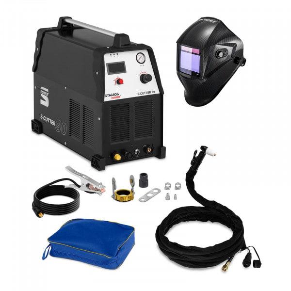 Schweißset Plasmaschneider - 90 A - 400 V + Schweißhelm – Carbonic