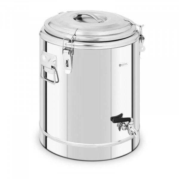 Thermobehälter Edelstahl - 30 L - mit Ablasshahn
