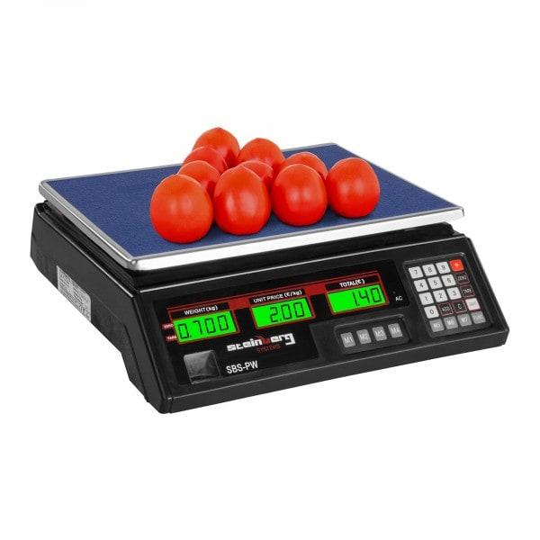 Kontrollwaage - 35 kg / 2 g - schwarz - LCD