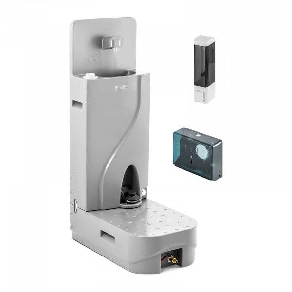 Mobiles Waschbecken - 65 L - mit Seifenspender und Papierhalter