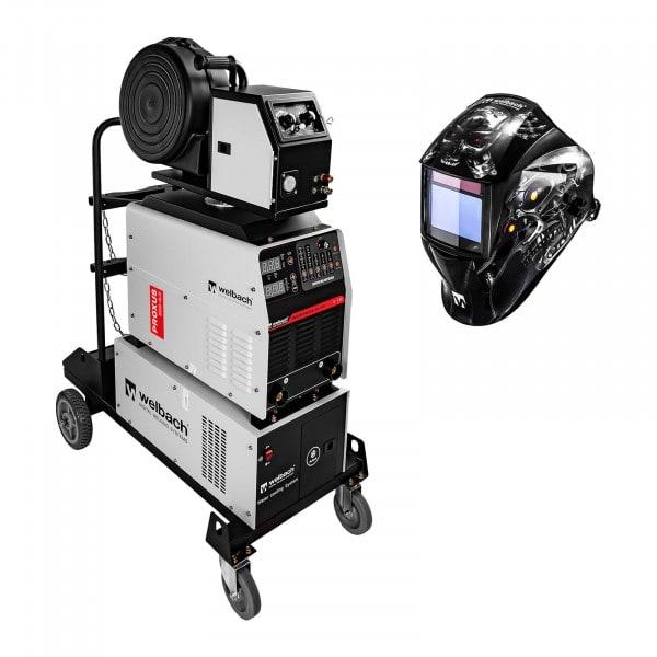 Set MIG/MAG Schweißgerät und Schweißhelm Metalator - 500 A - 400 V - digital