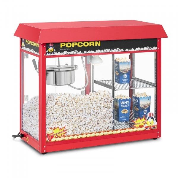 Popcornmaschine mit beheizter Auslage - rot