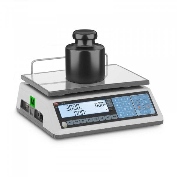 Preisrechenwaage - geeicht - 15 kg/5 g - 30 kg/10 g