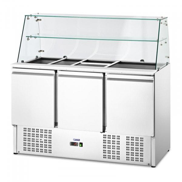 Saladette - mit Glasaufsatz - royal_catering - 368 L - für 8 GN-Behälter - 136.5 x 70 cm
