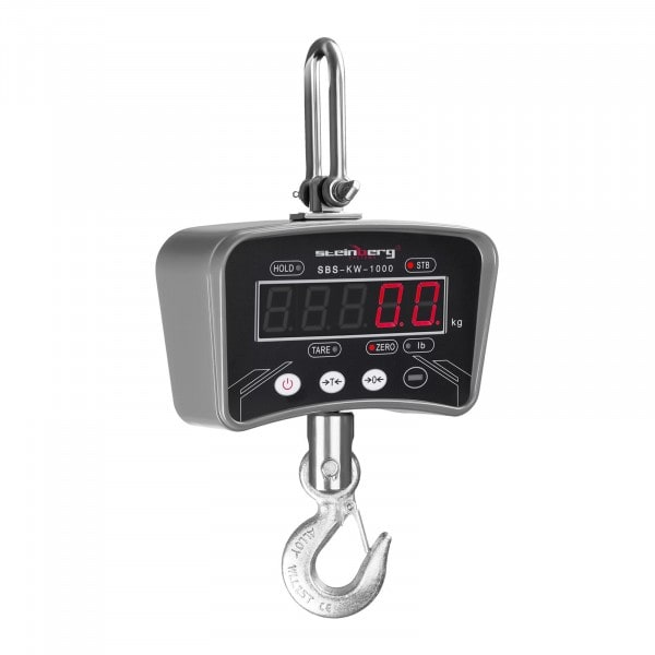 Kranwaage – 1.000 kg / 200 g – LED - Metall - 3126 - 1