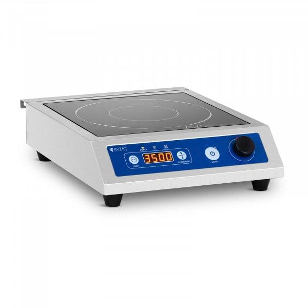 Induktionsplatte - 22 cm - 60 bis 240 °C - Timer