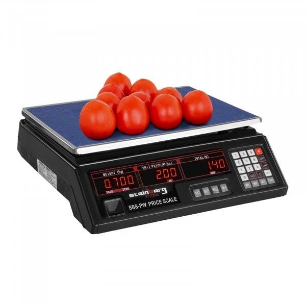 Kontrollwaage - 30 kg / 2 g - schwarz - LED
