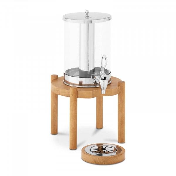Saftspender - 7 L - Kühlsystem - Holzgestell
