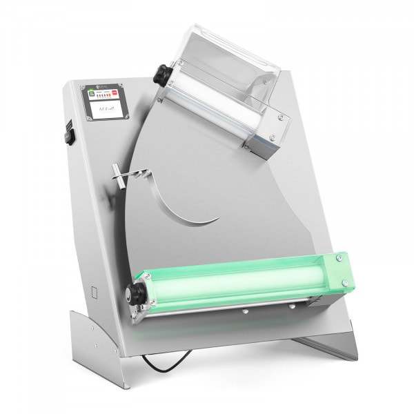 Teigausrollmaschine - Ø 26 bis 40 cm - 2 Rollen - 0 bis 5 mm - Autostart