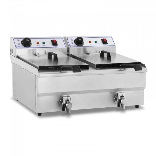 Elektro-Fritteuse - 2 x 16 Liter - 230 V