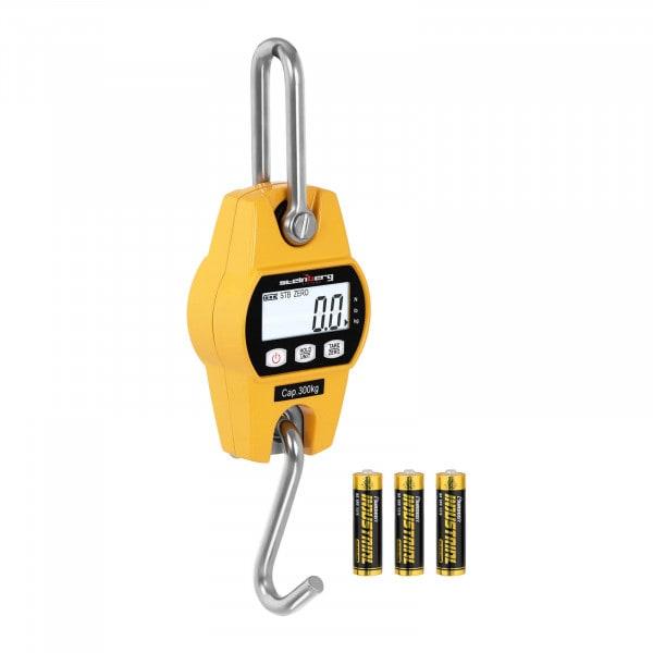 Kranwaage - 300 kg / 100 g - LCD - gelb