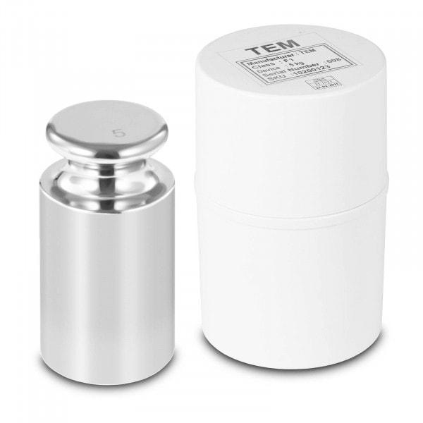 Kalibriergewicht - 5 kg - Edelstahl