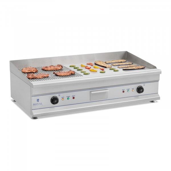 Doppel Elektro Grillplatte- 100 cm - glatt - 2 x 3.200 W