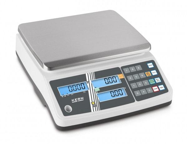 KERN Preisrechenwaage - 6 kg / 2 g - weiß - LCD
