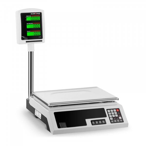Kontrollwaage - 30 kg / 1 g - 34 x 23 cm - 2 LCD