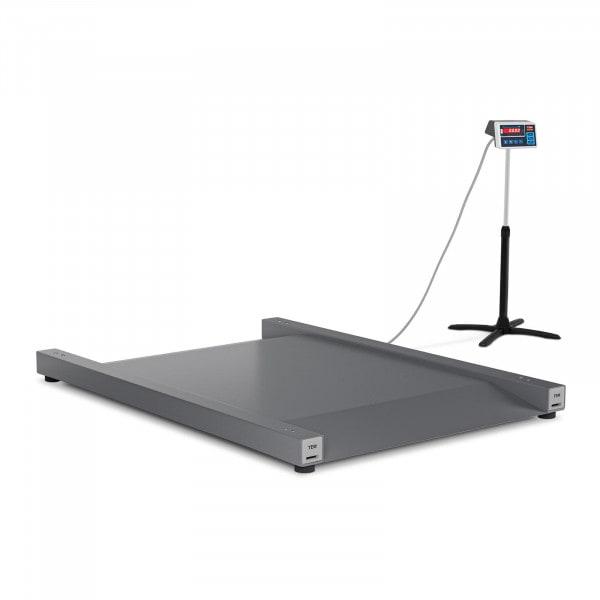Bodenwaage - geeicht - 600 kg / 200 g - 100 x 90 cm - LED