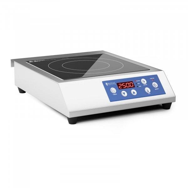 Induktionsplatte - 28 cm - 60 bis 240 °C - Timer